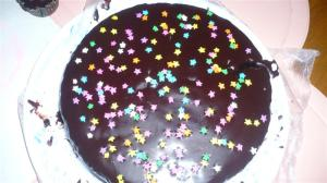 The chocolate cake Zoe and I baked for hubby